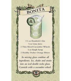Hendricks Gin Cocktail: Bonita