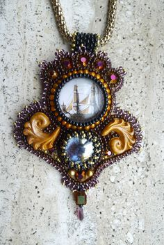 "Pendant ""The Black pearl""  By Astrid de Koning"