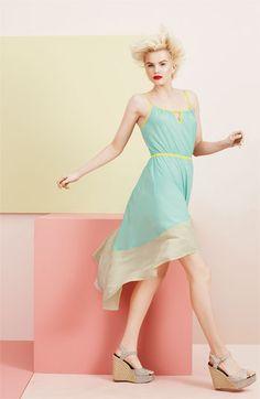 Willow & Clay Colorblock Asymmetrical Hem Dress
