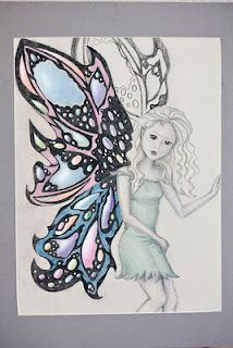 Fairy picture drawing