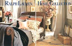 Ralph Lauren Home Archives, Unknown collection, Bedroom, gray and florals, 1995