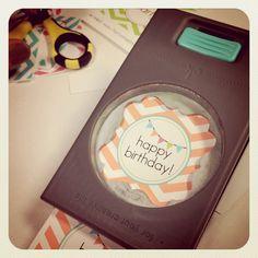 <3 free printable chevron birthday <3
