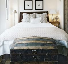 Something about a trunk at the end of the bed just does it for me.