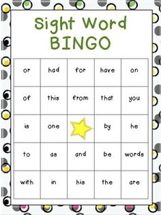 Bingo,  and Sight   sight Sight kindergarten on word Words   Pinterest bingo word cards bingo printable Word