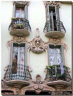 Small balconies and amazing detail...love