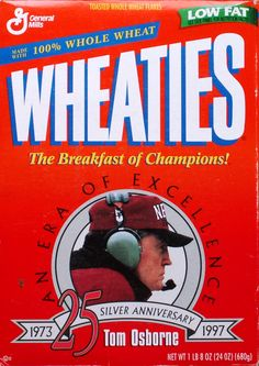 True Husker fans keep their Wheaties boxes for decades.