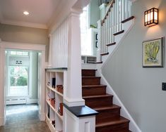 Hanging Lights In Staircase With Landing Design, Pictures, Remodel, Decor and Ideas - page 11