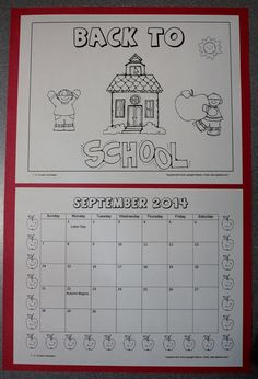 I have added a September Calendar as a free download. Click on the picture to access the file on TPT. :)