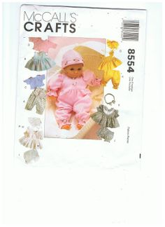 Free Copy of Pattern - McCall's 8554