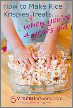 Now THIS is the way to make Rice Krispies Treats --> How To Make Rice Krispies Treats When You're Four Years Old