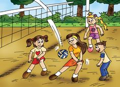 "Carissa, ""We are playing volleyball with the family. It was way cool!""  Find the Cutes - Playtime is available for sale through www.findthecutes.com or on Amazon.com.  #Lookandfind #Seekandfind #Searchbook #Childrensbooks #Cutechildrensbooks #Cutechildren #Cutekids #Cutefamily #Familyvolleyball"