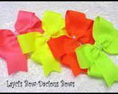 layci bowdaci, neon bow, hair bows, cheer bows, toddler, school bow, bowdaci bow