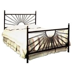 Found it at www.dcgstores.com - ♥ ♥ El Sol Wrought Iron Bed - Sunburst Design ♥ ♥ I will have this bed someday!!!