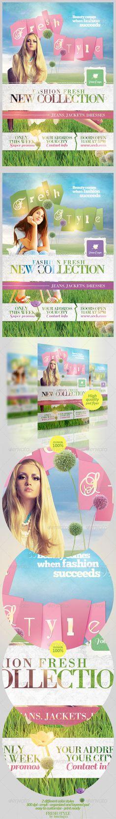 fashion flyer, promo flyer, print templat
