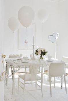 white fairytale party