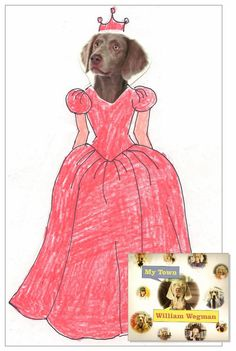 "Art Projects for Kids: Fun with William Wegman. Download my dog head pdf template to make your own ""humanized"" dogs."