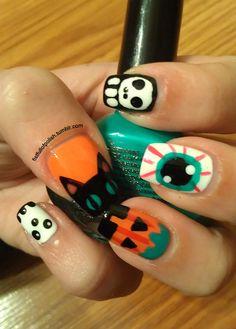 lamps, cats, nail arts, cat nail, nail nailart, monsters, halloween nail art, heavens, halloween nails