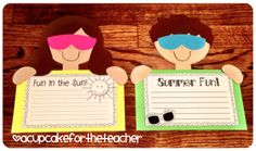 A Cupcake for the Teacher: Summer Kids {a Craftivity}