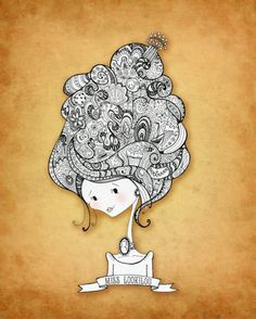 Miss Lookilou - PRINT | Artist: Stephanie Corfee