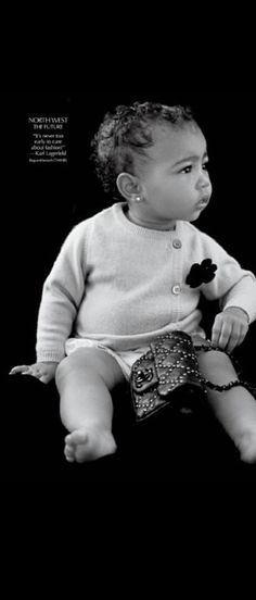 North West styled by Carine Roitfeld, photo by Michael Avedon, quote by Karl Lagerfeld for #CRFashionBook  #Chanel