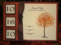 Branch Out Fall/Autumn Wedding Save the Date or Invitation