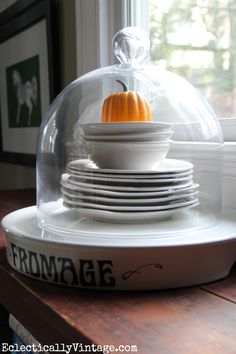 Everything looks better under a cloche!  eclecticallyvintage.com #HomeGoodsHappy #HappyByDesign #sponsored