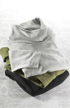 Pure Jill sueded cowl-neck tops