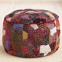 Patchwork pouf..do the hippie hippie shake