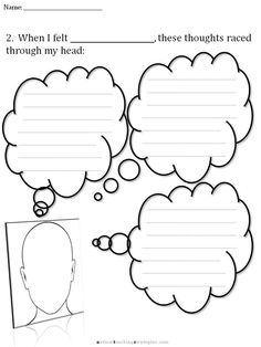 """CBT Thought Bubble Kit This is a set of pre-printed thought bubbles.  Half of them are """"Poison Thoughts"""" (cognitive distortions) commonly encountered in children with ASD.  The other half are """"Antidote Thoughts"""" that can be used to counter the automatic negative thoughts.  These have many applications in counseling and teaching children about upsetting emotions."""
