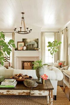 Perfect living room. Soothing color and texture.