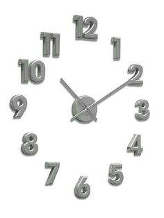 Acctim Large Numbers Wall Clock in Silver 21757 on eBay!