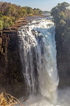 Victoria Falls and the Zambezi River, viewed from Zimbabwe ~ UNESCO World Heritage Site