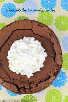 Flourless Chocolate Brownie Cake #glutenfree #desserts
