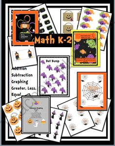Math Station Games with a Halloween Theme! Enter for your chance to win 1 of 3.  Halloween Math Games for Centers (41 pages) from Fun and Fancy Free in First Grade on TeachersNotebook.com (Ends on on 10-5-2014)  5 print and go math games for k-2. Games provide practice for addition, subtraction, greater than, less than, equal to, and more. Students will love the adorable Halloween clip art.