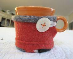 Recycled wool mug cozy