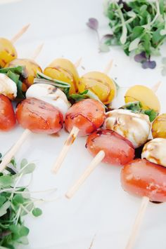 is it lunchtime yet? these caprese salad skewers look amazing!