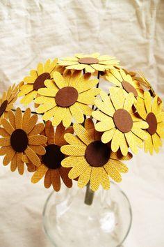 Cardstock Sunflower Centerpiece