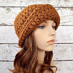 Garbo Cloche Hat in Hazelnut Brown - READY TO SHIP