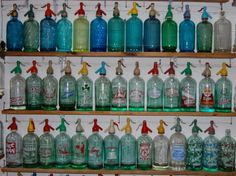 botella reciclada, botella de, botella antigua, de sifon
