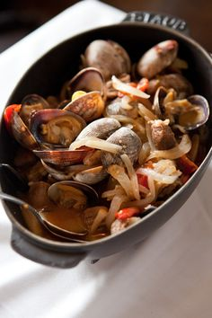 One Skillet Portuguese Pork and Clams  from @Shaina Olmanson | Food for My Family  #Portugal