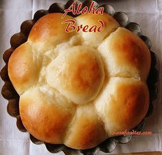 Aloha Bread - This is a delicious bundle of soft, light, sweet rolls with a pineapple flavour and oh boy! It is delicious! This is an easy recipe! with pics, video.