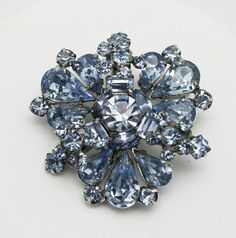 Vintage Weiss Brooch Pale Blue by HeirloomBandB on Etsy, $62.00