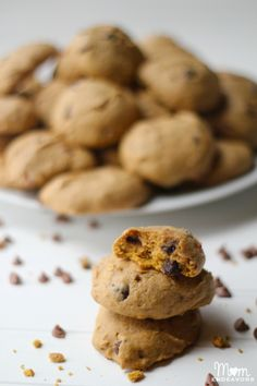 Delicious pumpkin cinnamon chocolate chip cookies