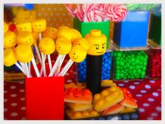 Lego cake pops and cookies #lego #cakepops #cookies