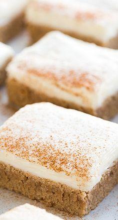 cinnamon roll sugar cookies bars...