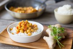 Chickpeas simmered in masala sauce
