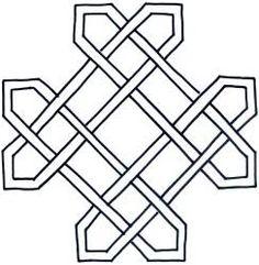 "Quilting Stencils | Celtic Diamond 9"""
