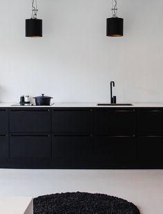 + bit, foods, clutter, jet black, suprem minimalist, black white, kitchen, attract, intens color