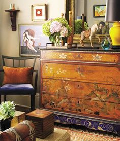 Benny Aguilar's 650 Square Foot Nob Hill Studio California Home + Design | Apartment Therapy......vintage Chinoiserie