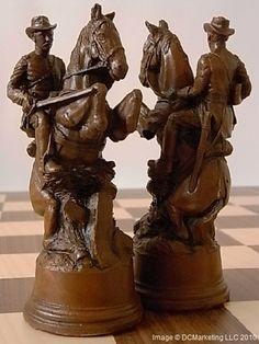 American Civil War Plain Theme Chess Set